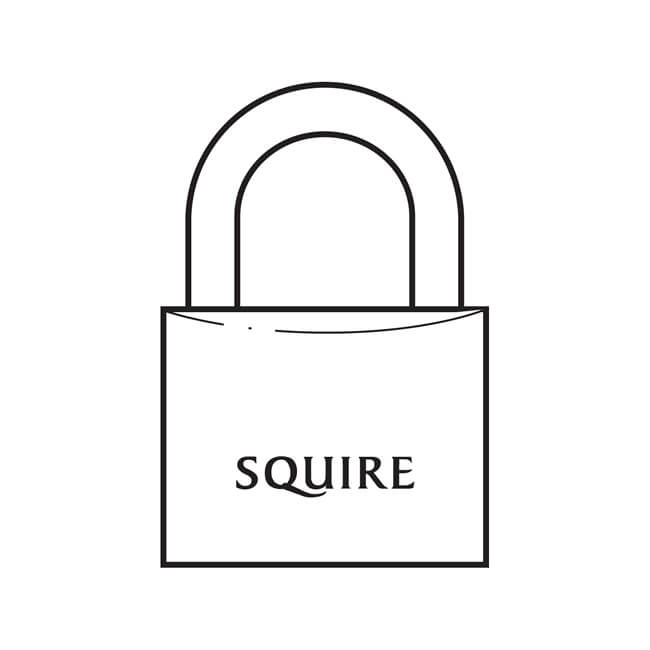 Squire Solid Brass Padlock - 50mm
