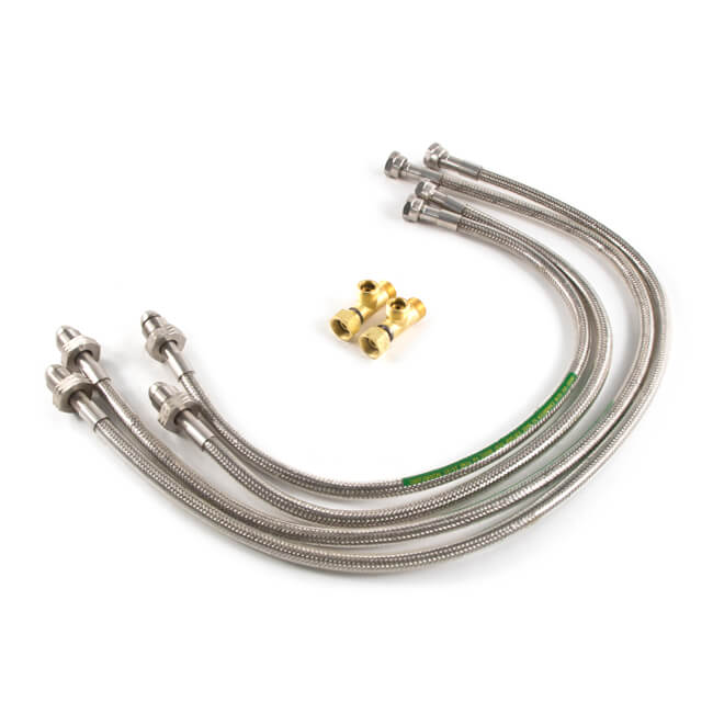 Stainless Steel Upgrade Hose Kit - 4 Cylinder Kit