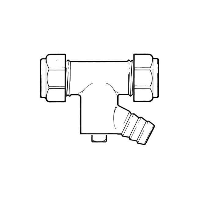 Straight Coupler UK Compression - 22mm