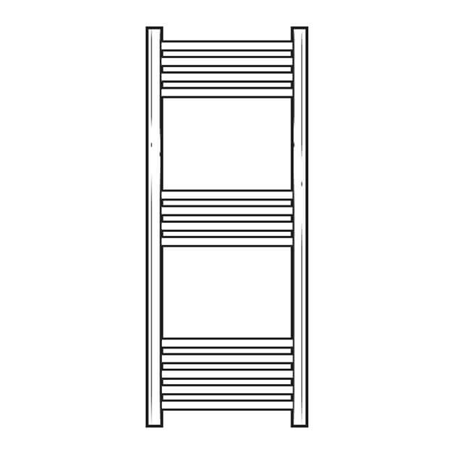 Straight Towel Rail Chrome Plated 1000 x 400mm, 274W