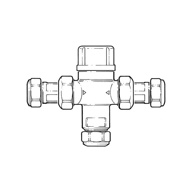 Thermostatic Mixing Valve TMV 2/3 - 15mm