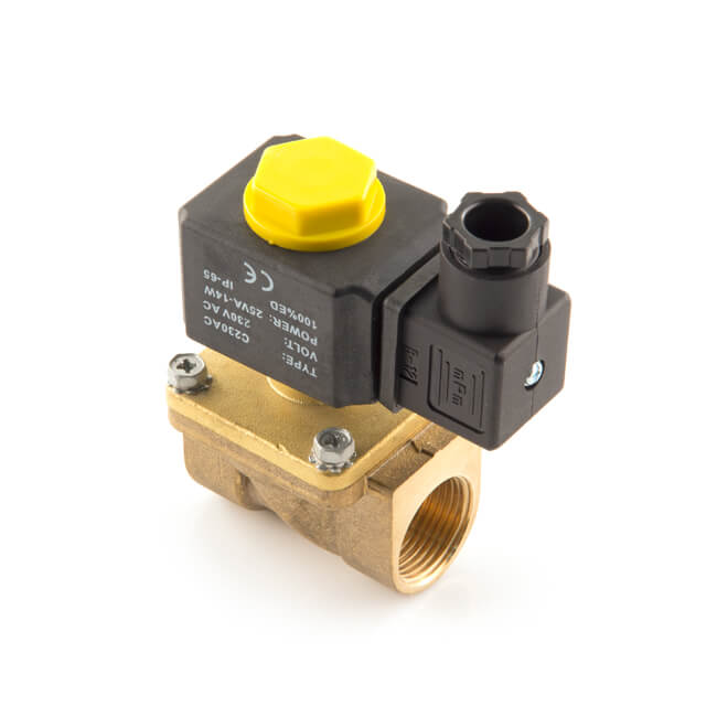 2 Way Solenoid Valve Air Water N//C Gas Oil Brass Normally Closed 12v 240v BSP UK