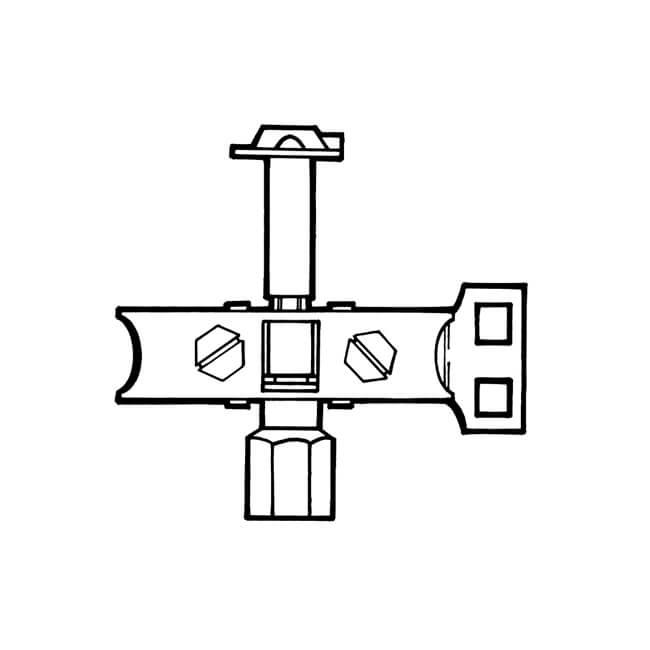 Pilot Burner Three-way Bottom Entry - 4mm or 6mm LPG