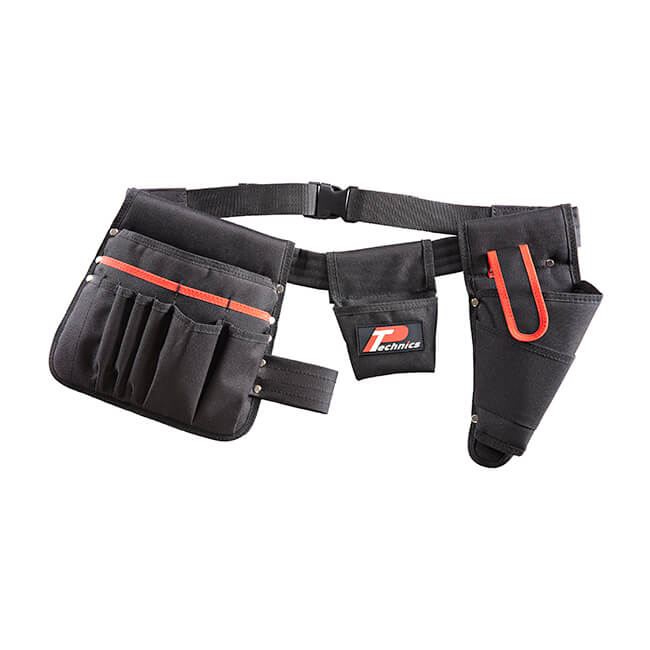 Tool Belt with 15 Pockets & Drill Holster