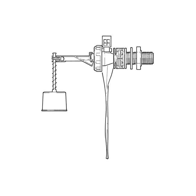 """Torbeck® Side Inlet Float Valve - 1/2"""" Brass Shank"""