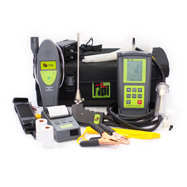 TPI 709R Flue Gas Combustion Efficiency Analyser Kit 4