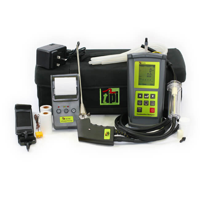 TPI 717R Flue Gas Combustion Efficiency Analyser Kit 1