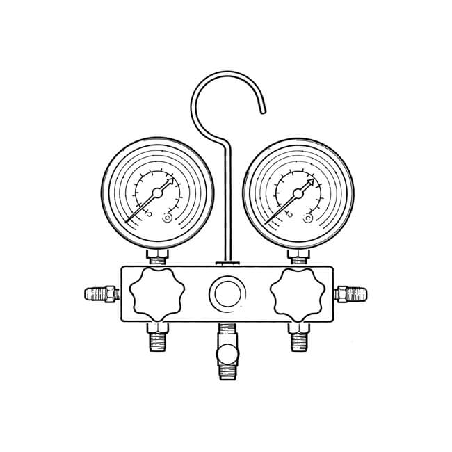 Two Way Standard Manifold With Sight Glass