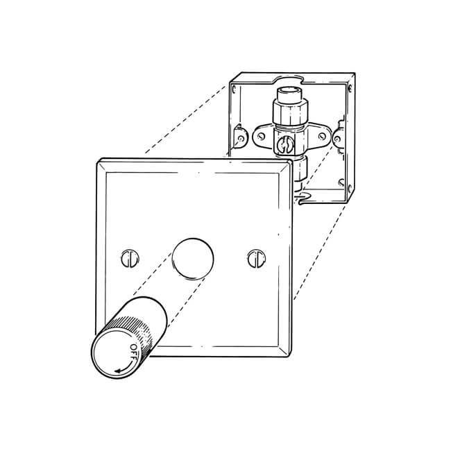 wall mounted gas control valve 10mm x 8mm boxed 6996